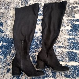 Christian Siriano Suede Over the Knee Boots